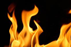 Сегодня в Павлограде загорелась летняя кухня