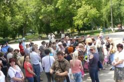 На Соборному знову зібрались люди