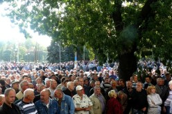 В Павлограді на акцію протесту вийшли шахтарі-інваліди