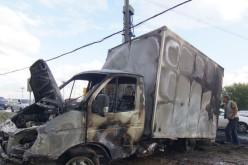 На автошляху «Знамянка-Луганськ-Ізварено» загорілася «Газель»