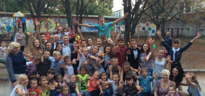 В Павлограде открыли игровую площадку, построенную «своими руками» (ФОТО И ВИДЕО)