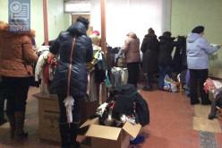 Переселенцам в Павлоград передали «гуманитарку» из Италии