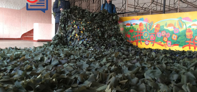 Воспитанники школы №17 передали маскировочную сетку в зону АТО