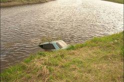 Возле с. Вербки автомобиль съехал в реку