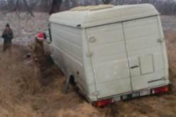 На трассе между Днепропетровском и Павлоградом поломался автобус с подарками для военных