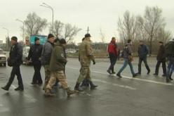 В Павлограде митингующие перекрывали трассу республиканского значения