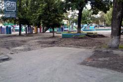 В Павлограде начали благоустраивать Детский парк