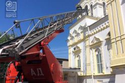В крупнейшем храме Западного Донбасса провели противопожарные учения (ВИДЕО)