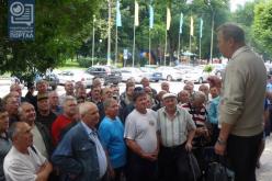 Чего добивались шахтеры-регрессники в горсовете Павлограда? (ФОТО и ВИДЕО)