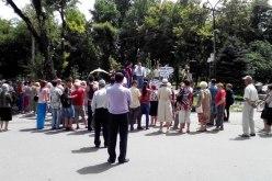 В Павлограде протестовали против плохих дорог, высоких тарифов и критерий МСЭК