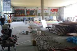 В комплексе «Юность» ремонтируют залы для занятий дзюдо, легкой атлетикой и футболом