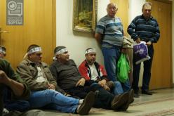 Регрессники провели ночь под кабинетом министра социальной политики (ВИДЕО)