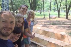 В одном из городских парков Павлограда установили парклет (ФОТО)