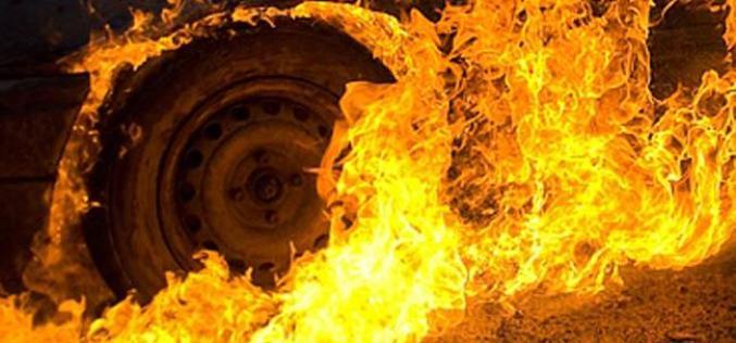 В Павлограде у грузовика загорелись колеса