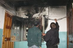 В квартире возник пожар из-за короткого замыкания