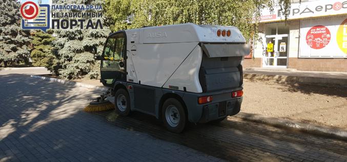 Машина для мойки тротуаров в Павлограде заменит 50 дворников (ВИДЕО)