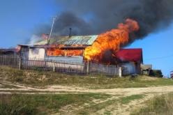В результате пожара в Терновке сгорело целое хозяйство