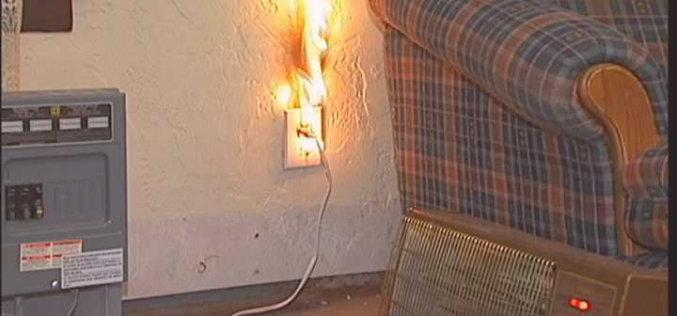 Павлоградец едва не сгорел из-за обогревателя