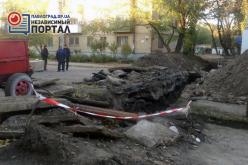 Из-за аварии на теплотрассе несколько домов и учреждений в Павлоград остались без тепла