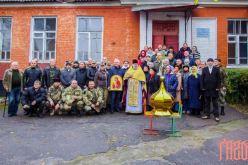 В Павлограде прошло первое богослужение в будущем храме УПЦ Киевского патриархата (ФОТО)