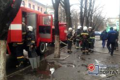 В Павлограде загорелось старинное здание почты (ФОТО и ВИДЕО)