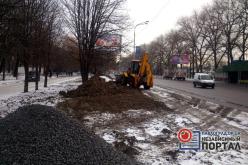 На ул. Днепровской строят дорожку для пешеходов