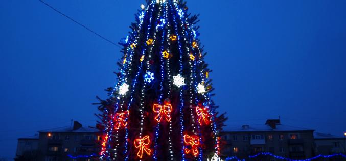 В Павлограде зажглась главная городская елочка (ФОТО и ВИДЕО)