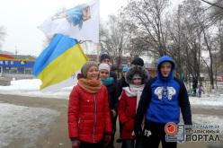 Павлоградские спортсмены начали Новый год с пробежки (ФОТО)