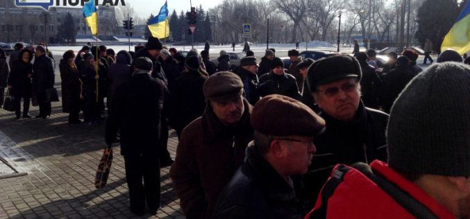 В Павлограде митинговали против повышения тарифов на проезд (ФОТО и ВИДЕО)