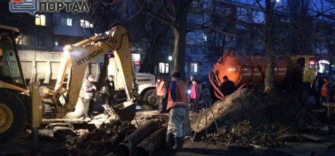На ул. Центральной прорвало трубу водоснабжения (ФОТО)