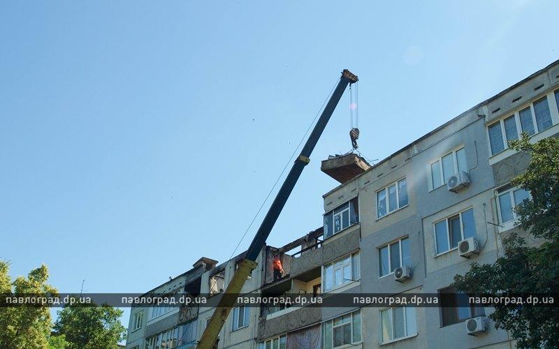 В Павлограде ликвидируют последствия взрыва газа в многоэтажке (ФОТО и ВИДЕО)