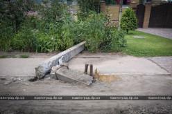 В Павлограде автобус сбил фонарный столб (ВИДЕО)