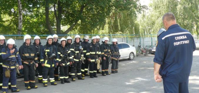 Спасатели потушили условный пожар в многоэтажке Павлограда (ФОТО и ВИДЕО)