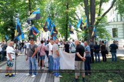В Киеве митинговали шахтеры-регрессники из Павлограда. Митинг закончился голодовкой