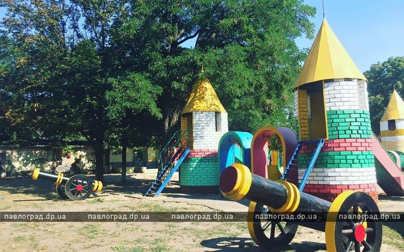 В Детском парке Павлограда установили пушки (ФОТОФАКТ)