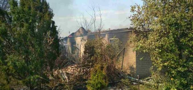 Павлоградец получил тяжелые ожоги, спасая свое имущество от огня (ФОТО)