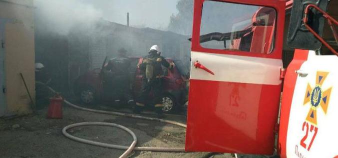 В Павлограде чуть не взорвались гаражи