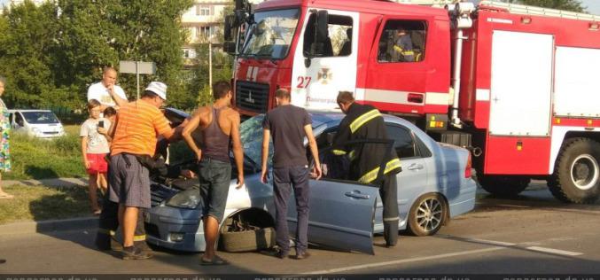В Павлограде «МАЗ» спасателей и легковушка столкнулись на глазах у мэра города (ФОТО и ВИДЕО)